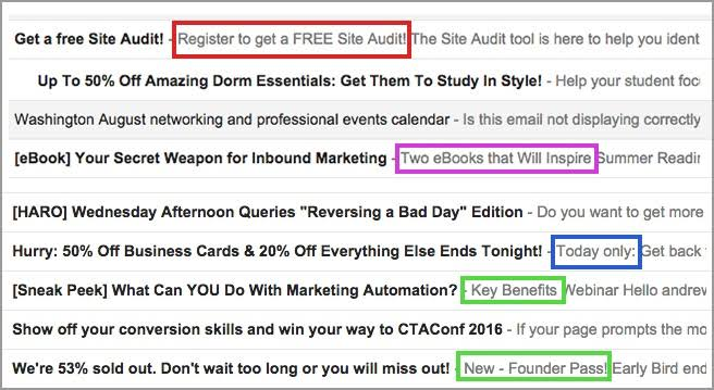 email marketing pre header